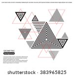 abstract triangle background...   Shutterstock .eps vector #383965825