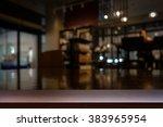 empty top of wooden table or... | Shutterstock . vector #383965954