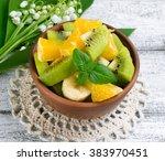 Fruit Salad With Kiwi  Banana ...