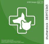 web line icon. veterinary... | Shutterstock .eps vector #383972365