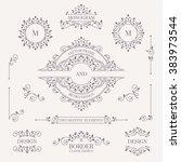 set of decorative monograms ... | Shutterstock .eps vector #383973544