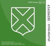 web line icon. shield. | Shutterstock .eps vector #383985919