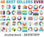 vector circle infographics.... | Shutterstock .eps vector #383987899
