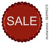 sale discount label. image in... | Shutterstock .eps vector #383990275