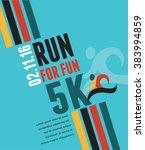 running marathon  people run ...   Shutterstock .eps vector #383994859