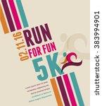 running marathon  people run ... | Shutterstock .eps vector #383994901