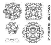 abstract flower mandala....   Shutterstock .eps vector #383999209
