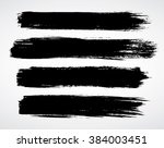 vector brush strokes | Shutterstock .eps vector #384003451