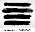 vector brush strokes | Shutterstock .eps vector #384003451