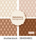 upholstery tufted leather... | Shutterstock .eps vector #384004801