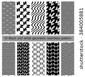 collection of black and white... | Shutterstock .eps vector #384005881