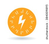 bolt flash icon. electricity... | Shutterstock .eps vector #384009895