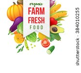 farm fresh emblem with type... | Shutterstock .eps vector #384010255