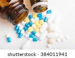 medicines  supplements and... | Shutterstock . vector #384011941