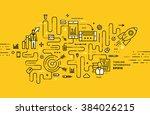 flat style  thin line art... | Shutterstock .eps vector #384026215