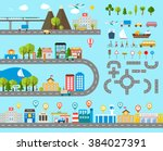 cityscape design elements with... | Shutterstock . vector #384027391