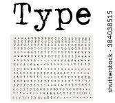 vector grunge old typewriter... | Shutterstock .eps vector #384038515