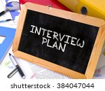 interview plan concept hand... | Shutterstock . vector #384047044