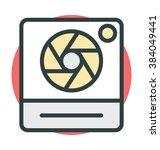 camera shutter vector icon | Shutterstock .eps vector #384049441