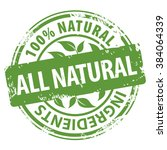 all natural organic ingredients ... | Shutterstock .eps vector #384064339