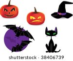 set of halloween detailed icons | Shutterstock .eps vector #38406739