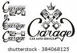 garage car auto service logo | Shutterstock .eps vector #384068125