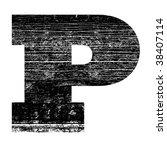 Grunge Letter P Alphabet Symbo...