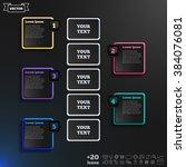 vector infographic design with... | Shutterstock .eps vector #384076081