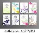 trendy creative hand drawn... | Shutterstock .eps vector #384079054