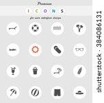 beach vector icons for web... | Shutterstock .eps vector #384086131