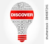 discover bulb word cloud ...   Shutterstock .eps vector #384087241