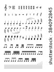 set of music signs and note... | Shutterstock . vector #384092845