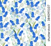 seamless pattern with stylized... | Shutterstock .eps vector #384095107