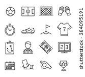 soccer icons set. football | Shutterstock .eps vector #384095191