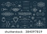 set vintage borders  frame and... | Shutterstock . vector #384097819