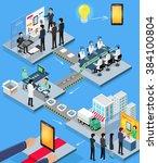 smartphone production process... | Shutterstock . vector #384100804