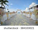 wedding set up | Shutterstock . vector #384103021