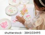 Kid Enjoying Making Handprints...