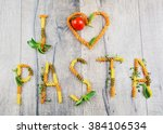 I Love Pasta Sign On The Wooden ...