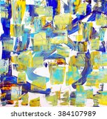 Abstract Colorful Painting Of...