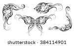 set of ornamental design... | Shutterstock .eps vector #384114901