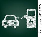 electrocar battery charging... | Shutterstock . vector #384117697