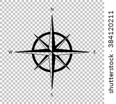 wind rose sign. flat style icon ... | Shutterstock . vector #384120211