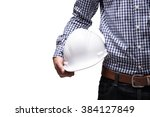 close up of engineer hand... | Shutterstock . vector #384127849