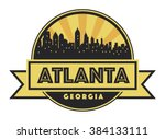 abstract skyline atlanta  with... | Shutterstock .eps vector #384133111