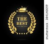 the best award label. golden... | Shutterstock .eps vector #384140059