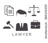 lawyer concept. lawyer icons in ... | Shutterstock .eps vector #384141055