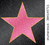 star. hollywood walk of fame | Shutterstock .eps vector #384145711