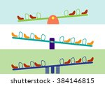 see saw horizontal set vector... | Shutterstock .eps vector #384146815