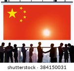 china national flag business... | Shutterstock . vector #384150031